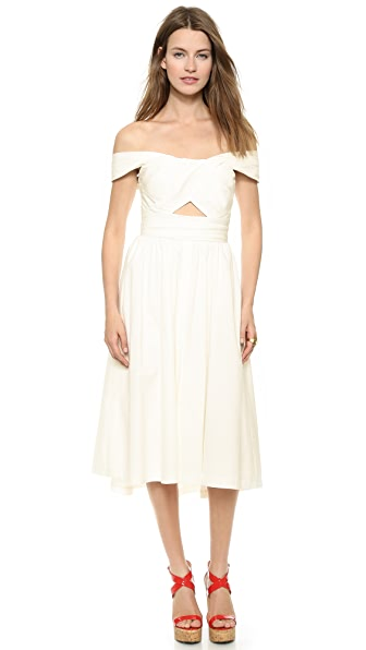 Shop Lela Rose online and buy Lela Rose Pleated Bodice Dress - White dress online