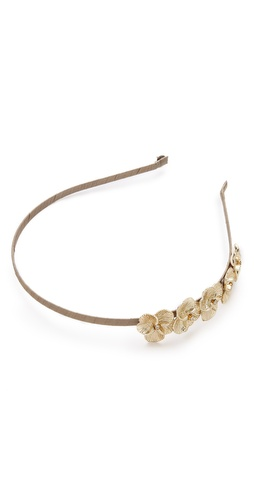 LELET NY Bloom Crystal Flower Silk Headband at Shopbop / East Dane