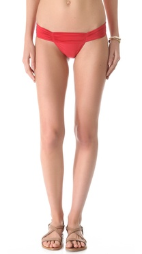 Lenny Niemeyer New Ruched European Bikini Bottoms