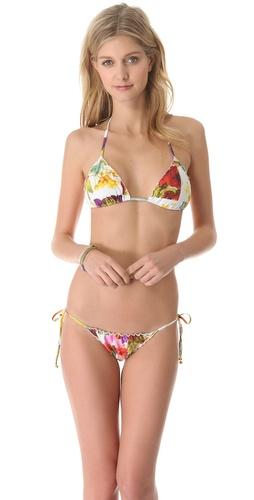 Lenny Niemeyer Triangle String Halter Bikini Top