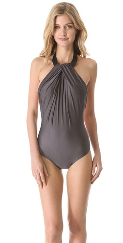 Lenny Niemeyer Leather Collar Maillot