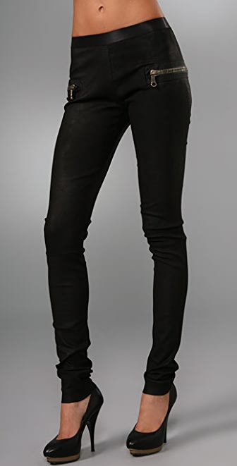 Les Chiffoniers Zip Pocket Lagato Leather Leggings