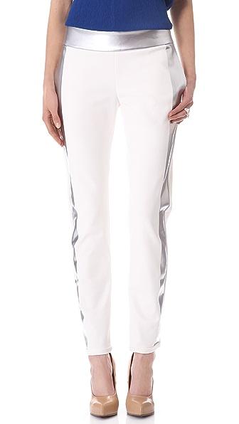 Les Chiffoniers Metallic Stripe Pants