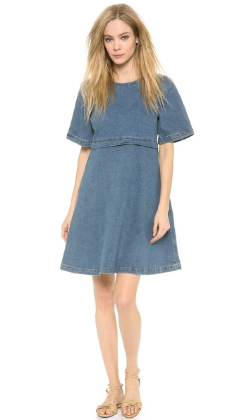 Leur Logette Denim Dress - Blue