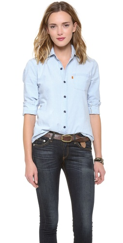 Levi's Vintage Clothing 1960s Chambray Shirt at Shopbop / East Dane