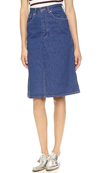 levi s denim skirt shopbop