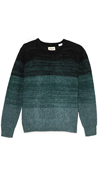 Levi's Made & Crafted Ombre Stripe Crew Neck Sweater