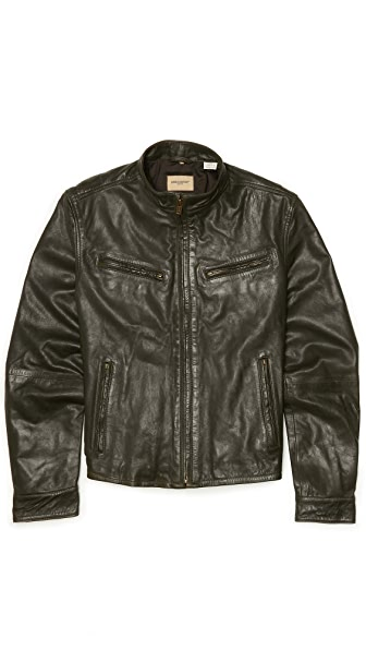 Levi 39 s made crafted leather biker jacket east dane for Levis made and crafted review