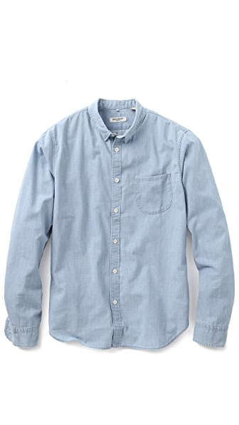 Levi 39 s made crafted pocket chambray shirt east dane for Levis made and crafted review