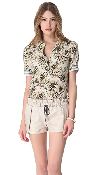 L'AGENCE Short Sleeve Blouse