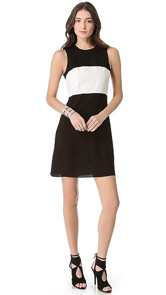 L'AGENCE Sleeveless Colorblock Dress