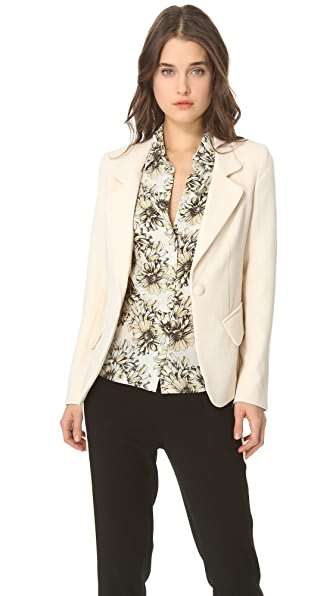L'AGENCE Notch Collar Blazer