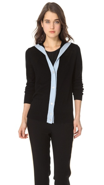L'AGENCE Long Sleeve Sailor Cardigan