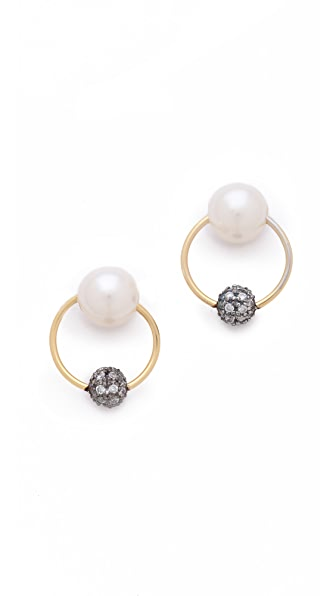 L'AGENCE Door Knocker Stud Earrings
