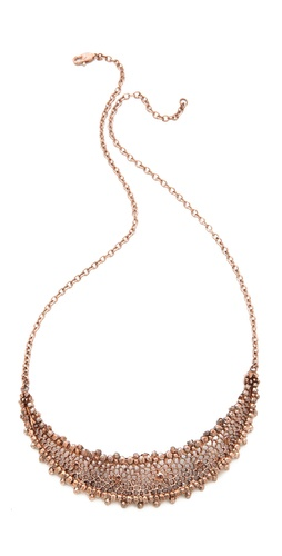 L'AGENCE Mesh Crescent Moon Necklace