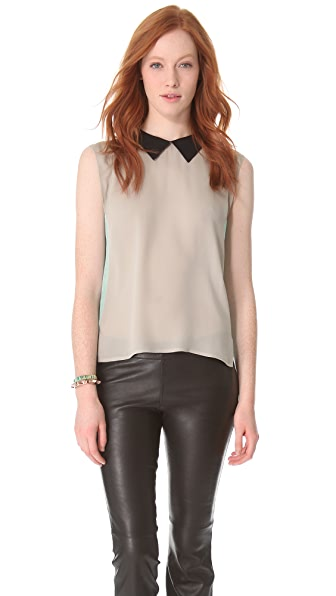 L'AGENCE Colorblock Sleeveless Blouse