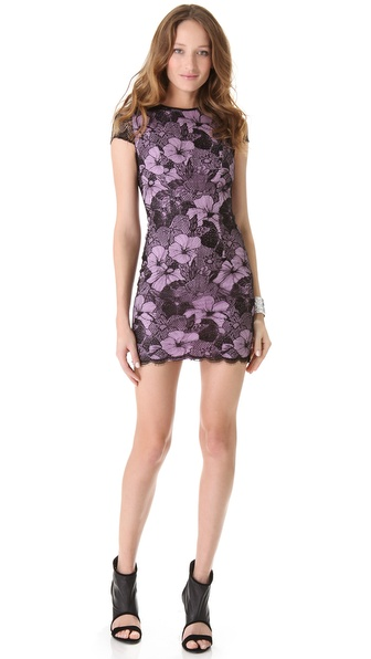 L'AGENCE Lace Overlay Dress