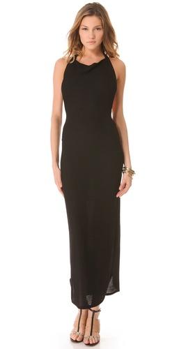 L'AGENCE Long Halter Dress