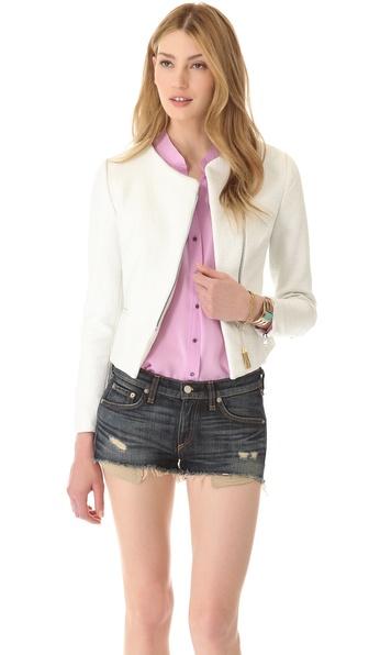 L'AGENCE Laminated Cotton Jacket