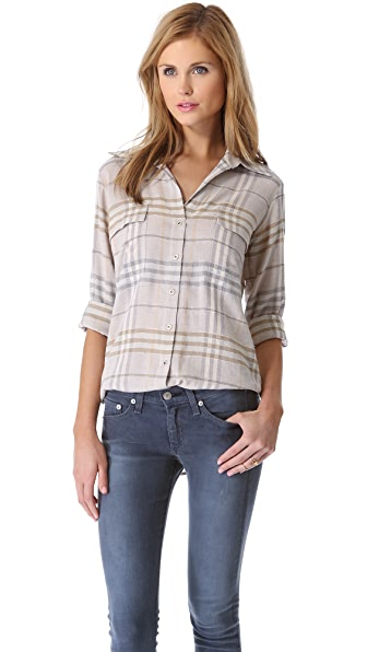 L'AGENCE Two Pocket Blouse