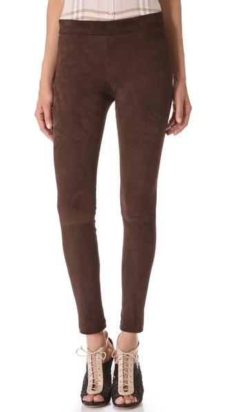 L'AGENCE Stretch Suede Leggings