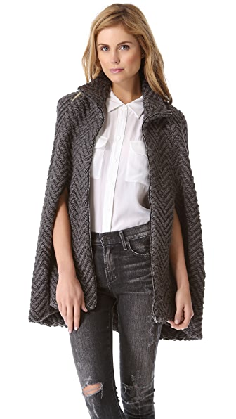 L'AGENCE Zip Front Cape