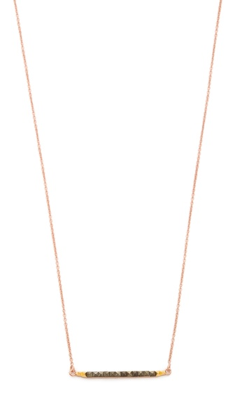 L'AGENCE Pyramid Stick Pendant Necklace