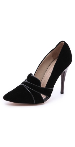 L'AGENCE Hepburn Velvet Pumps at Shopbop / East Dane