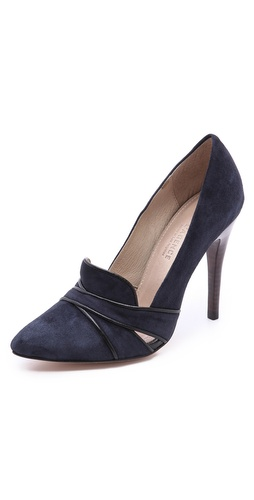 L'AGENCE Hepburn Suede Pumps at Shopbop / East Dane