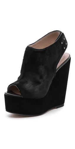 L'AGENCE Slingback Haircalf Wedges at Shopbop / East Dane