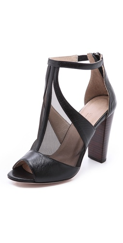 L'AGENCE City Mesh T Strap Pumps at Shopbop / East Dane