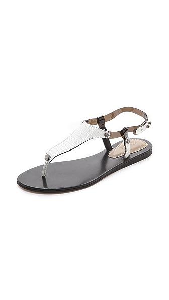 L'AGENCE Margaret Clear Strap Sandals