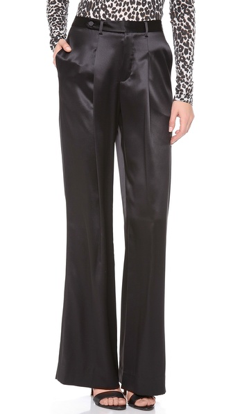 L'AGENCE Satin Trousers