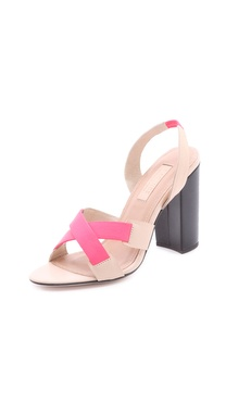 L'AGENCE Contrast Sandals