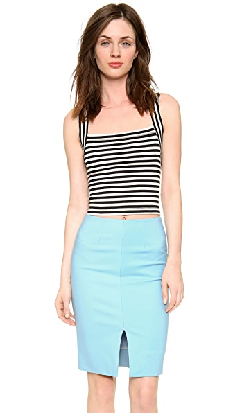 L'AGENCE Sleeveless Crop Top