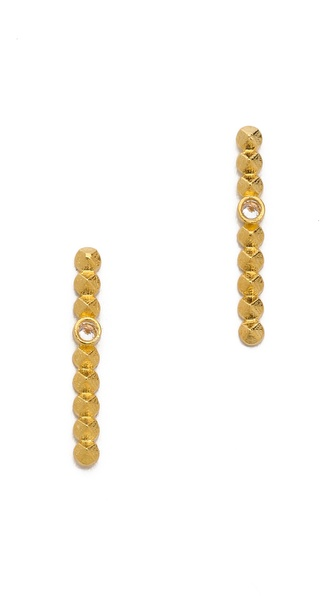 L'AGENCE Small Pointed Bar Earrings