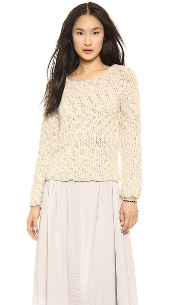L'AGENCE Hand Knit Pullover Sweater