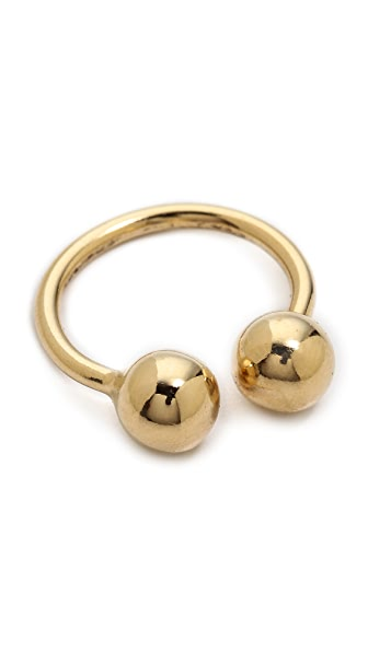Lady Grey Barbell Ring