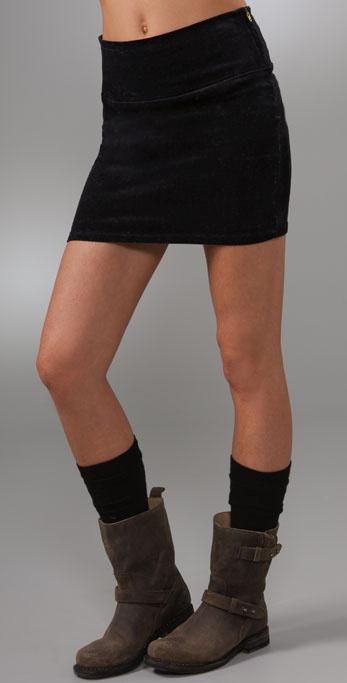 Les Halles Corduroy Banded Miniskirt