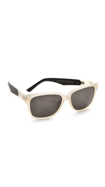 Linda Farrow for The Row Leather Classic Sunglasses