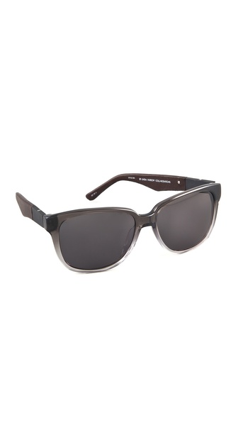 Linda Farrow for The Row Ombre Leather Detail Sunglasses