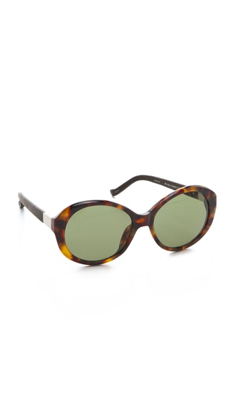 The Row Leather Jackie O Sunglasses