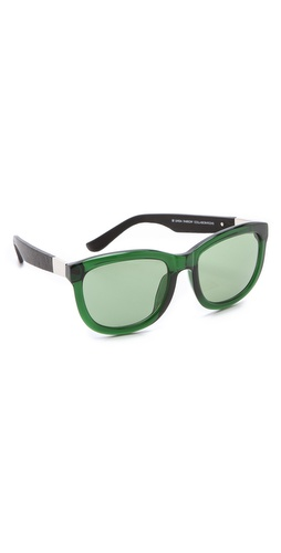 Linda Farrow for The Row Leather Sunglasses