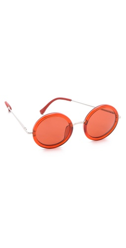 Linda Farrow for The Row Oversized Round Sunglasses