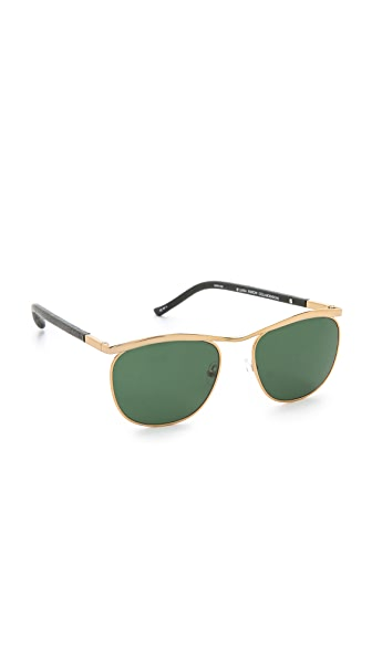 The Row Leather Sunglasses