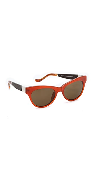The Row The Row Cat Eye Sunglasses (Brown)