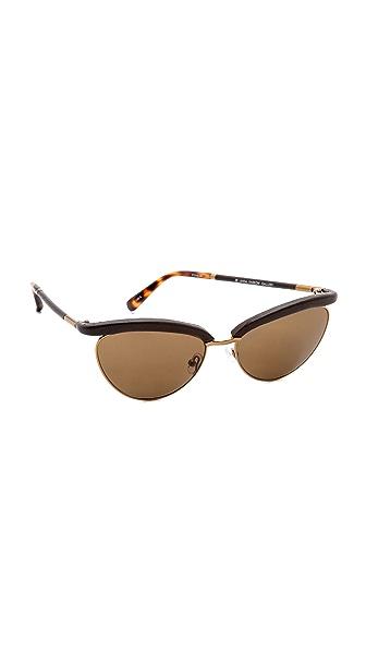 The Row Top Rim Sunglasses