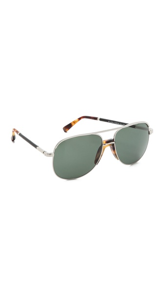 The Row Tortoise Aviator Sunglasses