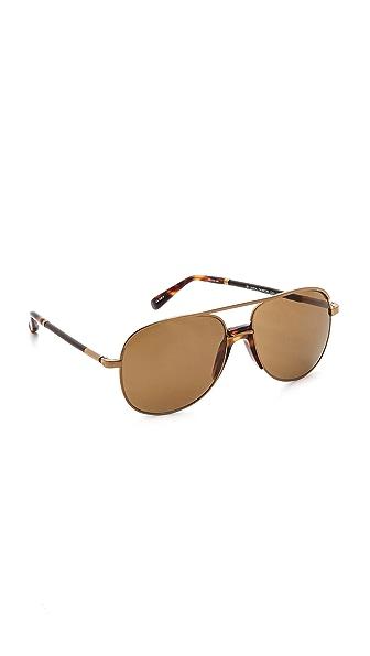 The Row Tortoise Aviator Sunglasses