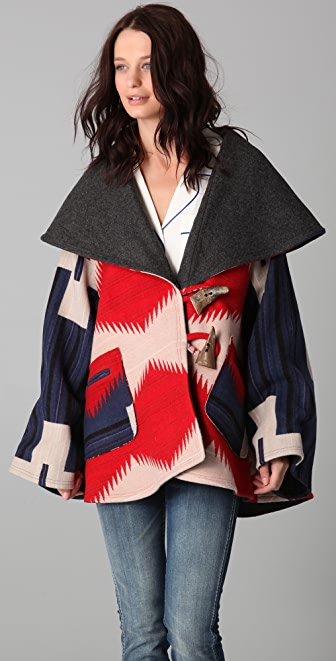 Lindsey Thornburg Pendleton Blanket Cloak with Hood